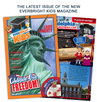 the latest issue of EverBright Kids magazine